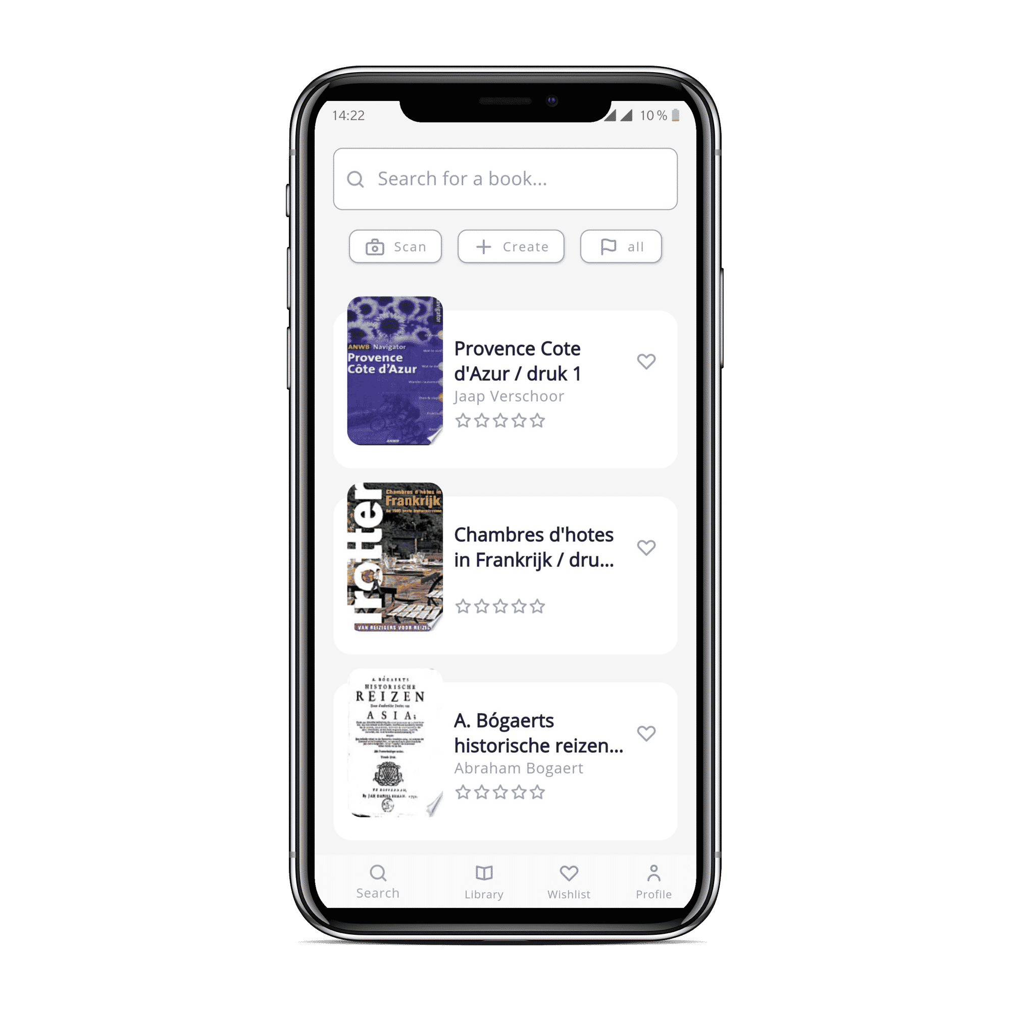 BookIt Application mobile